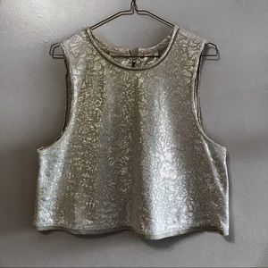 NWOT Free People Silver crop top